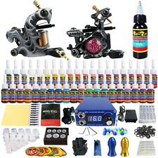 Solong Complete Tattoo Kit 2 coil machine Guns 40Inks Power Supply Needle Grips