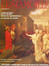 L'Estampille n°161 - 1983 - Bénigne Gagneraux - François Décorchemont -