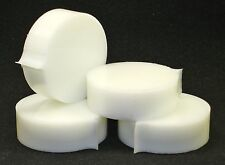"1"" thick High Density Polyethylene HDPE, white 2-7/8""  round, 4 pieces."