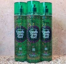 3 BATH AND BODY WORKS Fragrance Mist Splash Spray VANILLA BEAN NOEL NEW SET