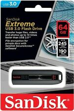 SanDisk 64G Cruzer Extreme CZ80 USB 3.0 Flash Pen Drive 64GB 245MB/s