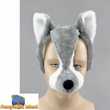 WOLF ANIMAL MASK ON BAND SOUND - mens womens fancy dress accessory