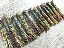 """LOT OF 12 TERMINATOR TINY-T JIG REPLACEMENT 2 1/2"""" SKIRTS FINESSE FISHING  LOT 3"""