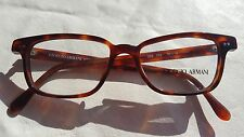 Vtg 90s Giorgio Armani Rectangular Tortoise Brown Eyeglasses Frame NOS NEW