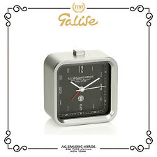 A.G Spalding & Bros orologio lighted square alarm clock sveglia black 428165U900