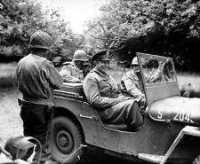 Photo. WW2. Dwight Eisenhower smiling in his jeep