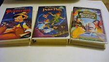 Disney Classic VHS Peter Pan, Sleeping Beauy, Pinocchio