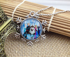 Hot FROZEN PENDANT Silver Plated CHAIN NECKLACE ROYAL PRINCESS X10