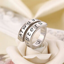 Special Friends and Always Sisters Charm Rings For Best Friends Gift