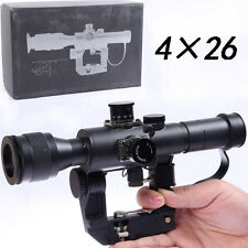 Russian POSP 4x26 SVD AK Red Illuminated Sniper Rifle Scope