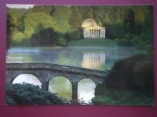 POSTCARD WILTSHIRE STOURHEAD - THE PANTHEON IN THE FOREGROUND IS THE STONE BRIDG