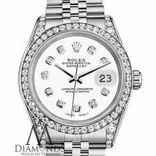 Ladies Rolex Datejust 26mm Stainless Steel White Color Diamond Dial Watch