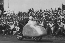 NSU Rennmax 250cc factory racer & Werner Haas –winner Dutch TT Assen 1954 -photo