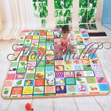 Baby Kid Playing Playmat Picnic Cushion Mat Educational Toddler Crawl Blanket M