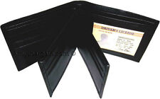 Leather man's Wallet 9 Card Holder 3 ID windows Billfold Wallet brand new