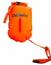Chillswim Hi Viz Open Water Swimmers Dry Bag/Float - keep keys/clothes etc safe