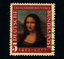 R378  GERMANY  1952  SG1074  5pf  MONA LISA   USED