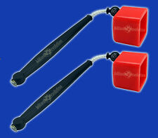 2 Red Pocket Chalkers-Pocket Chalk Holder/Chalker for Pool & Billiards Cue Chalk