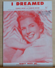 I Dreamed - 1956 sheet music - Betty Johnson photo cover