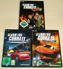 3 PC SPIELE SET - ALARM FÜR COBRA 11 - BURNING WHEELS HIGHWAY NIGHTS CRASH TIME