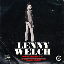"7"" promo LENNY WELCH breaking up is hard to do SPANISH 1970 get mommy to come 45"