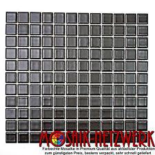 Mosaik schwarz matt Keramikmosaik Fliese Wand Boden Dusche Bad|Art: 18-0311|1 qm