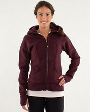 LULULEMON SCUBA HOODIE WITH THUMBHOLES SIZE 10 BORDEAUX DRAMA/HEATHERED