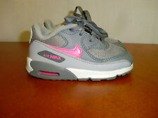 Nike Air Max Baby Girls Toddlers Running Shoes 724857-007 Gray Pink Size 7C