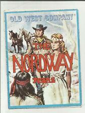 88411 ADESIVO VINTAGE STICKER OLD WEST COMPANY THE NORDWAY JEANS