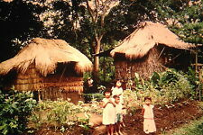 35mm Vintage Slide Philippines Farm Houses Children Boys Girls 1967 L@@K WOW!!!