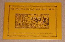 1960s/70s DE AVONTUREN VAN BRUINTJE BEER DUTCH RUPERT BEAR PAPERBACK TWAALFDE 12