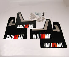Rallyflapz 4mm PVC Mudflaps Mitsubishi Evo 7, 8, 9 Black + Striped Ralliart Logo