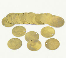 """30Pcs Round Bronze Tone Blank Stamping Tags Pendants Jewelry Charms 20mm(6/8"""")"""