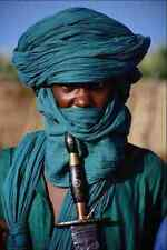 747042 Tuareg Wearing Traditional Attire Segou Mali A4 Photo Print