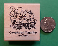 Completed Together in Class - Animals - Teacher's Wood Mounted Rubber Stamp