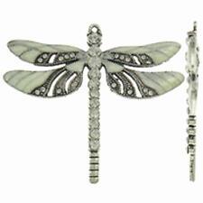1pc  65x56x5mm zinc alloy enamel with rhinestone dragonfly pendant-2301A