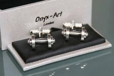 Novelty Cufflinks - Dumbell Weights Design *Boxed* Bodybuilder Gift NEW