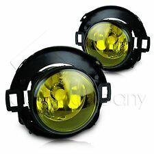 For 10-15 Frontier 05-14 Xterra Fog Lights w/Wiring Kit & COB LED Bulbs - Yellow