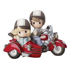 $ New PRECIOUS MOMENTS Figurine FOREVER BY YOUR SIDE Motorcycle Bike Couple Love