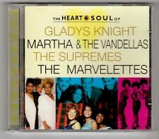(GY612) Heart & Soul, Gladys Knight/Supremes/Marvelettes/Martha - 1997 CD