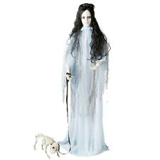 Halloween Lifesize Haunting Beauty With Barking Skeleton Dog Prop
