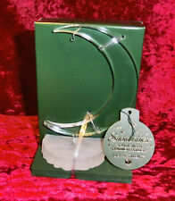 "DEPARTMENT 56...SNOWBABIES ORNAMENT HOLDR...ÄCRYLIC MOON ORNAMENT HOLDER"" ...NEW"