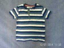 Boys 2-3 Years - Blue & White Striped T-Shirt - TU