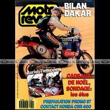 MOTO REVUE N°2784 HONDA CBR 600 YAMAHA RDLC SUZUKI RG HUBERT AURIOL DAKAR 1987