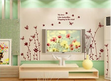 Butterfly Nature Flowers Wall Sticker Decal Mural Art Vinyl Room Decor SL9024