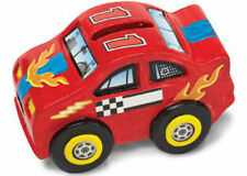 Melissa & Doug Race Car Bank Decorate-Your-Own