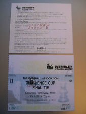 1989 F.A. Cup Final Ticket Liverpool v Everton mint condition.