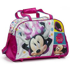 NEW OFFICIAL Minnie Mouse Disney Girls Kids Duffle Holdall Overnight Travel Bag