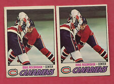 2 X 1977-78 OPC # 189 MONTREAL CANADIENS DOUG RISEBROUGH  CARD
