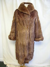 "Ladies Fur Coat Henry & Co. brown sable, bust 42"", length 44"", some wear 2535"